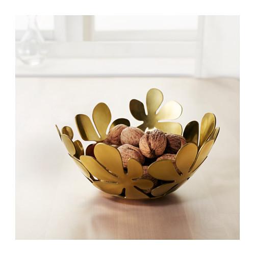 """IKEA """"СТОКГОЛЬМ"""" Миска, желтая медь золотой, 20 см 2"""