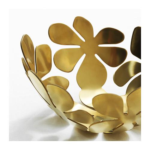 """IKEA """"СТОКГОЛЬМ"""" Миска, желтая медь золотой, 20 см 3"""