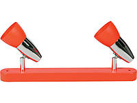 Спот DISCO 3014/2    2хE14x40W оранжевый / хром