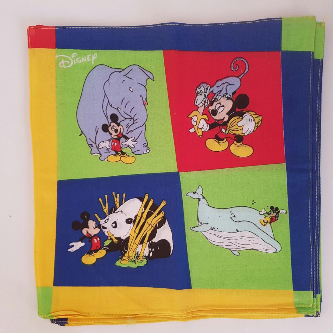 Детские носовые платочки дисней 10 шт в упаковке хлопок 28х28