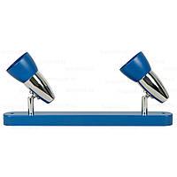 Спот DISCO 3014/2    2хE14x40W синий / хром