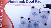 Подставка для ноутбука с тремя вентиляторами для охлаждения (синяя подсветка)