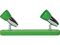 Спот DISCO 3014/2    2хE14x40W зелёный / хром