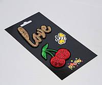 """Наклейки-термо на текстиль 8415 """"Вишня, Love"""""""
