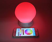 Беспроводной Bluetooth динамик LED светильник