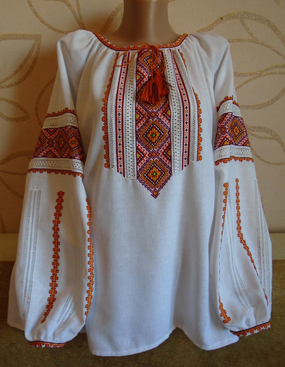 Жіноча сорочка-вишивака з довгим рукавом
