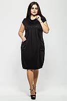 Платья больших размеров Галина черное