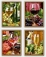 """Художественный творческий набор """"Натюрморт. Вино"""". Картины по номерам Schipper 9340610"""