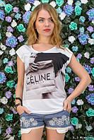 Женская футболка с принтом у-t6117399