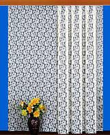 """Гардинное полотно """"Маков цвет"""" (белый), ширина 150 см"""