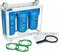 """Система корпусов Big Blue 10"""" на раме Aquafilter HHBB10B"""