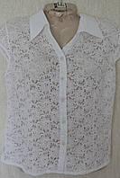Женская блузка гипюровая с воротничком