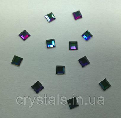 Стразы-квадраты Preciosa (Чехия) Сrystal Vitrail Green 3x3 мм