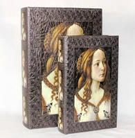 """Книга-шкатулка """"Девушка"""" на магните набор 2в1 330-17"""