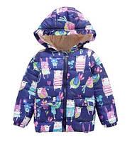 Демисезонная куртка для девочки TicToc Зайки, полномерная (р.3/4 года)