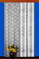 """Гардинное полотно """"Папороть"""" (белый), высота 300 см"""