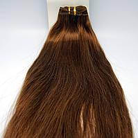 Волосы натуральные длинна 45 см(шатен)