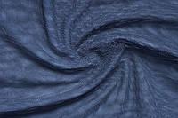 Купить ткань Стрейч сетка. Цвет темно-синий