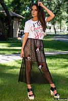 Женская футболка с рисунком у-t6117411