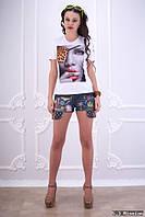 Женская футболка с рисунком у-t6117412