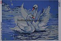 """Схема для вышивания бисером """"Пара лебедей"""""""