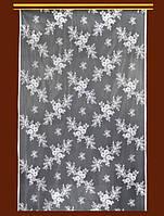 "Жаккардовый тюль ""Мальвинка"" (белый), ширина 190 см"