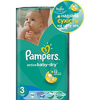 Памперсы Pampers Active Baby-Dry Midi (4-9 кг) 58шт