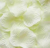 Лепестки роз искусственные для свадьбы кремовые
