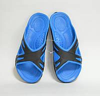 Шлепанцы мужские черно-синие оптом не дорого, фото 1