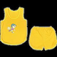 Детский летний костюмчик, майка и шортики, тонкий хлопок; ТМ Беби Арт, р.98-104, Украина