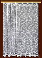 """Жаккардовый тюль """"Сетка"""" (белый), высота 190 см"""