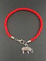 Браслет красная нить на руку с талисманом Слоник