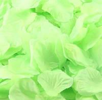 Лепестки роз искусственные для свадьбы салатовые