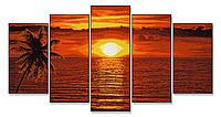 """Художественный творческий набор """"Закат солнца в Карибском море"""". Картины по номерам Schipper  945 0728"""
