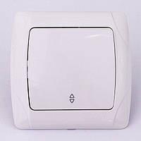 Выключатель одноклавишный проходной VIKO CARMEN  скрытой установки (белый)