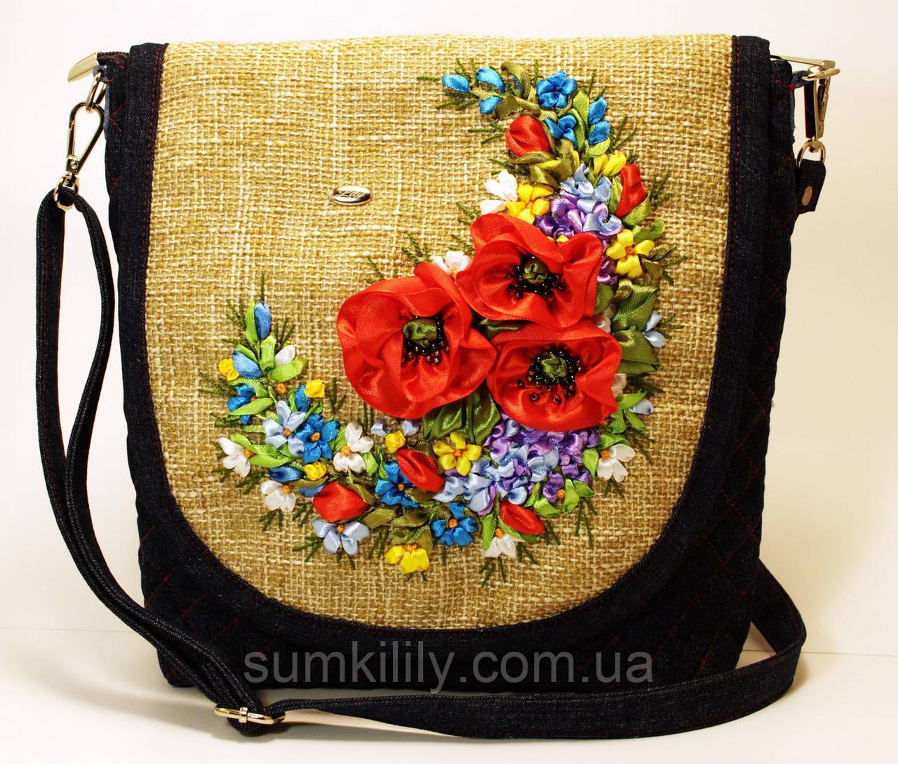 Женская джинсовая сумочка Настя