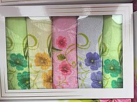 Набор кухонных полотенец с цветами в подарочной упак. 65х40