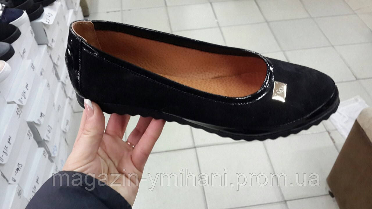 8541efa25b1d Женские замшевые черные балетки . Украина - Интернет-магазин