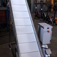 Ленточный мобильный конвейер для транспортировки жира