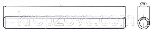 Шпилька метровая М4 DIN 975 нержавейка А2