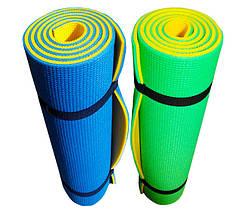 Коврик для фитнеса «FITNESS PLUS» 1800х600х10мм (Двухслойный), фото 3