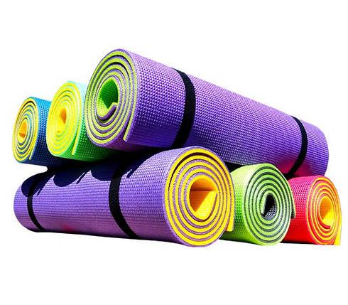 Коврик для фитнеса «FITNESS PLUS» 1800х600х10мм (Двухслойный), фото 2