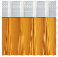 Тесьма шторная тканевая Веер, ширина тесьмы 17 см
