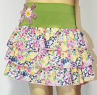 Летняя юбка для девочки 3-11 лет