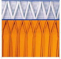 Тесьма шторная тканевая Зиг-заг, ширина тесьмы 17 см