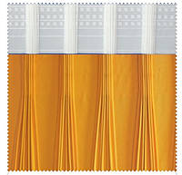 Тесьма шторная тканевая Семь складок, ширина тесьмы 17 см
