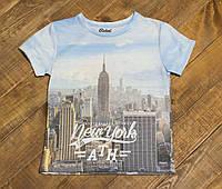 Детская стильная футболка для мальчика Нью-Йорк Башня р.128