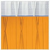 Тесьма шторная тканевая Куриная лапка-Встречная складка, ширина тесьмы 17 см