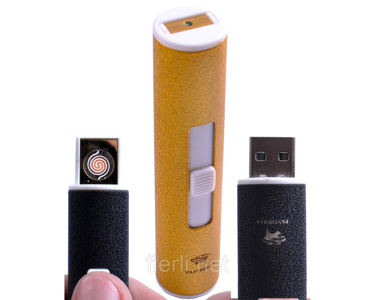"""USB зажигалка """"PANTHERA"""" (спираль накаливания) №4804-3"""