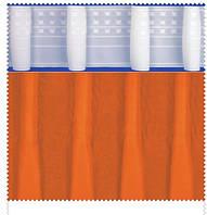Тесьма шторная тканевая Карандашная складка, ширина 17 см